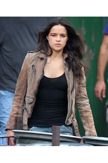 Michelle Rodriguez Fast And Furious 7 Letty Ortiz Leather Jacket