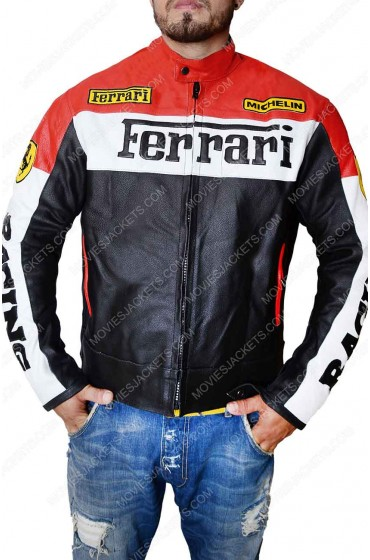 Ferrari Biker Leather Jacket