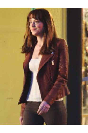 Fifty Shades of Grey Dakota Johnson Leather Jacket