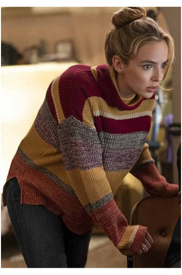 Free Guy Jodie Comer Woolen Sweater