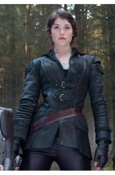 Gemma Arterton Hansel and Gretel Leather Jacket