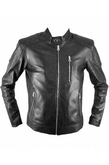 Genuine Retro Mens Biker Leather Jacket