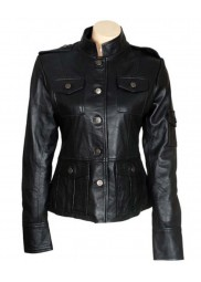 Get Smart Agent 99 Black Anne Hathaway Leather Jacket