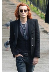 Good Omens Crowley Black Jacket