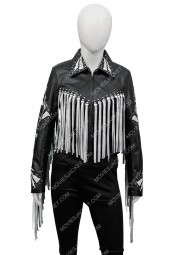Birds of Prey Harley Quinn Black Fringe Jacket