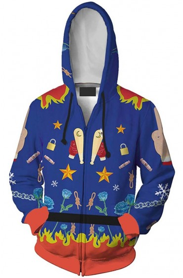 Birds Of Prey Blue Harley Quinn Hoodie