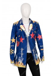 Harley Quinn Birds Of Prey Blue Blazer