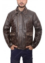 Indiana Jones Harrison Ford Brown Leather Jacket
