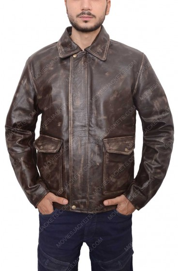 Harrison Ford Brown Indiana Jones Leather Jacket