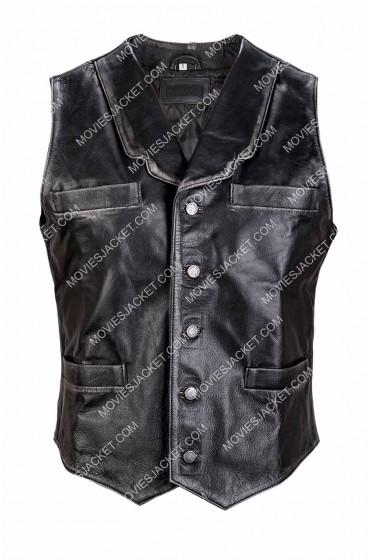 Anson Mount Hell on Wheels Cullen Bohannon Leather Vest