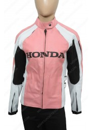 Joe Rocket Ladies Pink Biker Leather Jacket