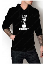 "I Am Baby Groot Pullover Hoodie ""Free T-Shirt"""