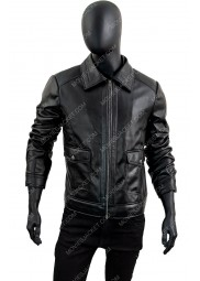James Slimfit Zipped Leather Jacket