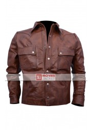 Jason Aldean Brown Leather Jacket