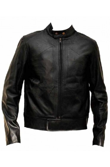 Joe Bangkok Dangerous Perforated Leather Motorcycle Jacket