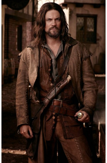 Shane West Salem John Alden Brown Leather Jacket