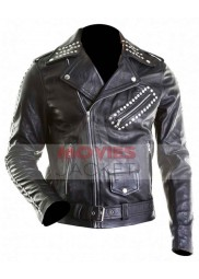 All Around The World Justin Bieber Black Leather Studded Jacket