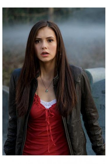 The Vampire Diaries Katherine Pierce Black Leather Jacket