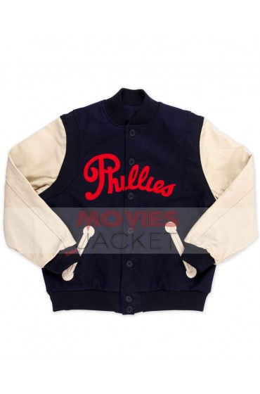 Kevin Hart The Wedding Ringer Leather Sleeves Phillies Jacket