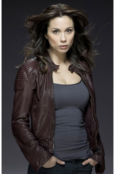 Kiera Cameron Continuum Rachel Nichols Leather Jacket