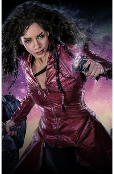 Dutch Hannah John Kamen Killjoys Trench Leather Coat