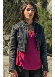 Kimberly Hart Power Rangers Leather Jacket