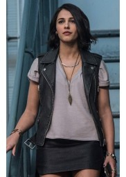 Power Rangers Naomi Scott Leather Vest
