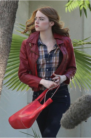 La La Land Movie Emma Stone Leather Jacket
