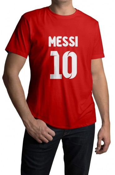 Lionel Messi White Cotton T-shirt