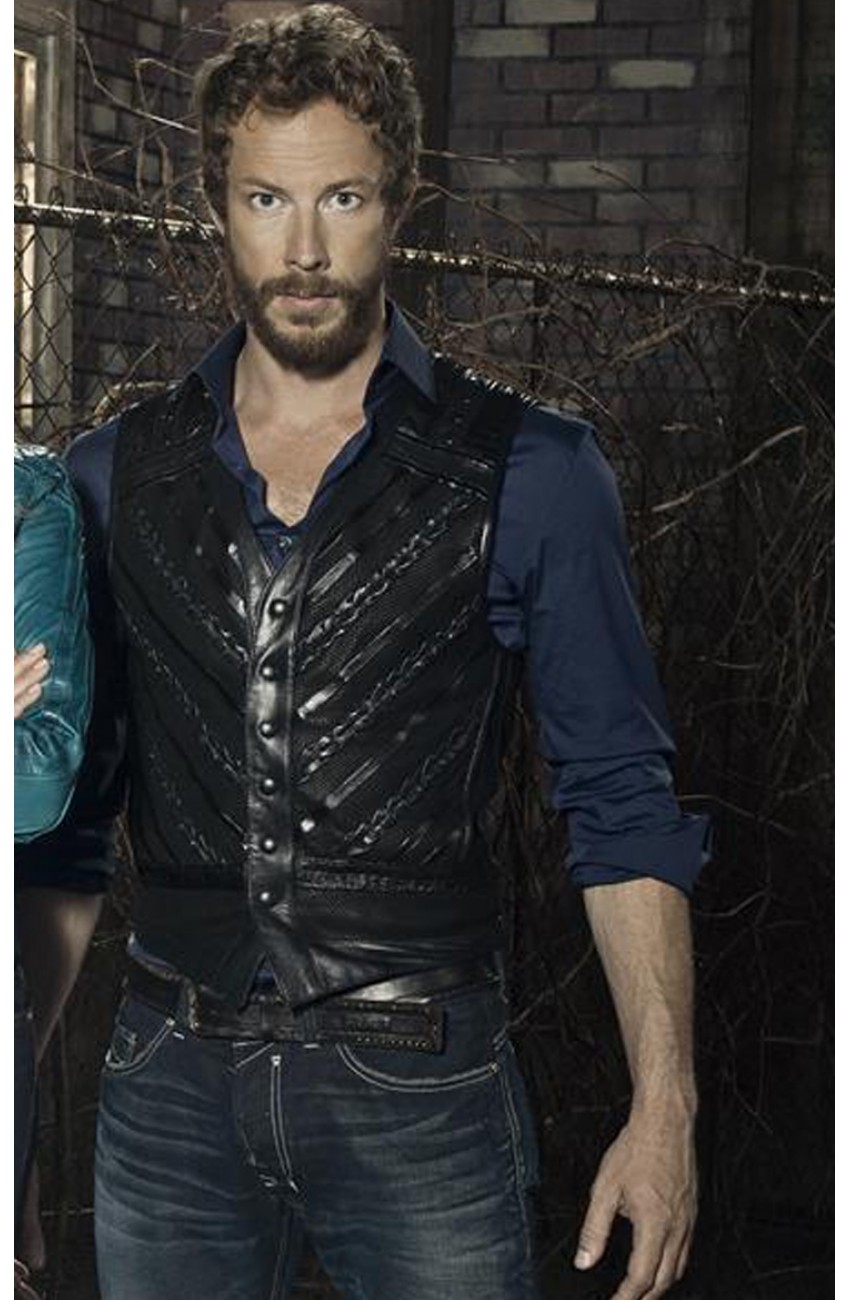 Kris Holden Ried Lost Girl Dyson Thornwood Leather Vest Lost Girl Dyson Kidnapped