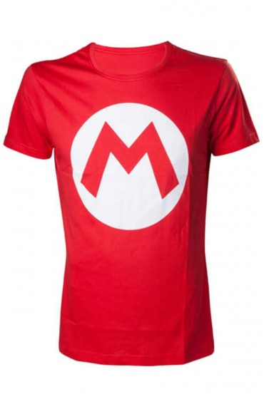 Mario M Logo Red T-shirt