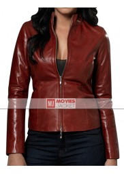 Doctor Who Red Martha Jones Leather Jacket