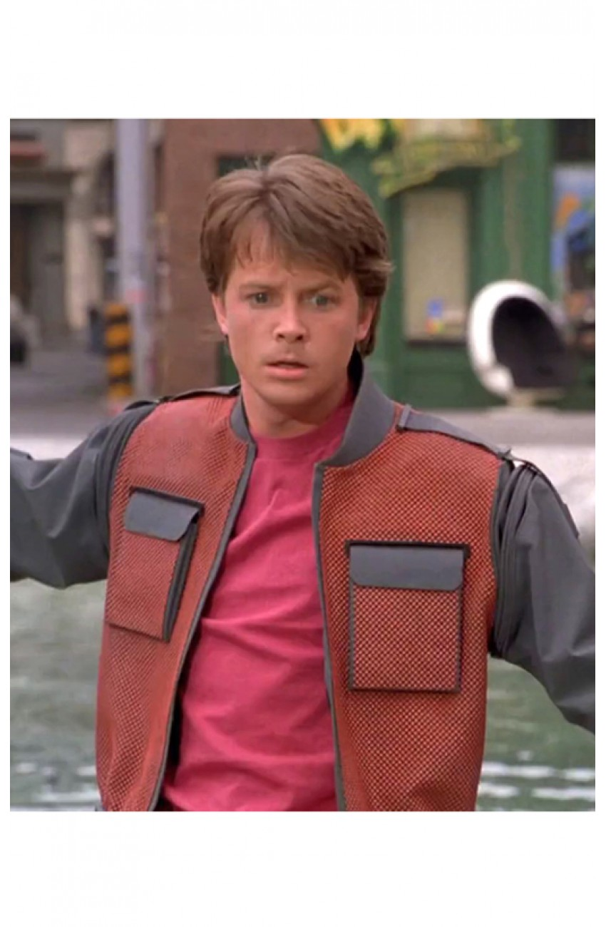 marty mcfly jacket from back to the future 2 michael j fox. Black Bedroom Furniture Sets. Home Design Ideas