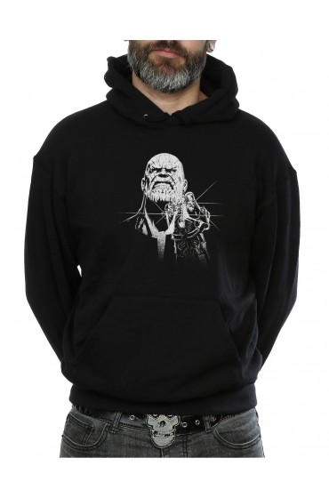 "Avengers Infinity War Men's Thanos Fierce Hoodie ""Free T-Shirt"""