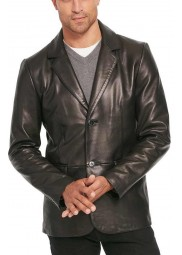 Mens Big & Tall Lamb Leather Blazer