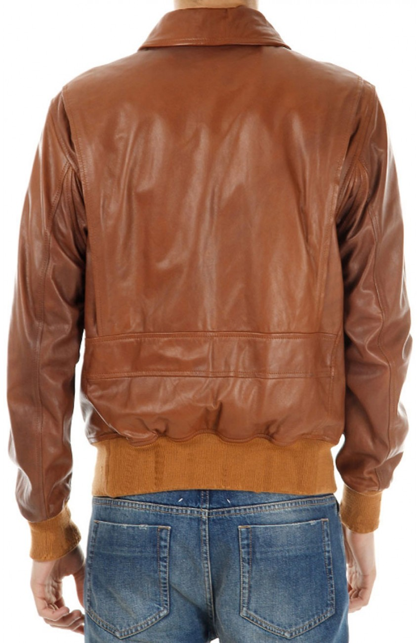 Mens Brown A2 Bomber Jacket | Leather Material