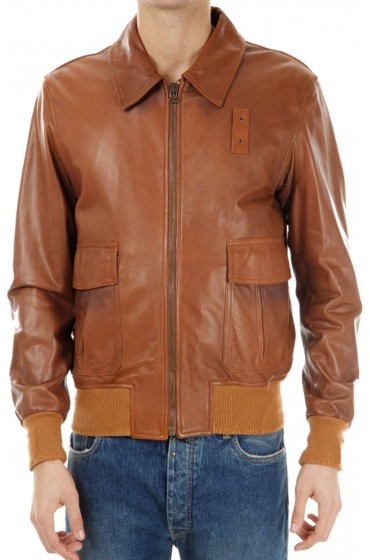 A2 Mens Brown Bomber Jacket