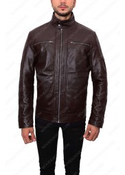Mens Dark Brown Casual Leather Jacket