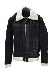 Mens Hemskin Aviator Shearling Leather Jacket