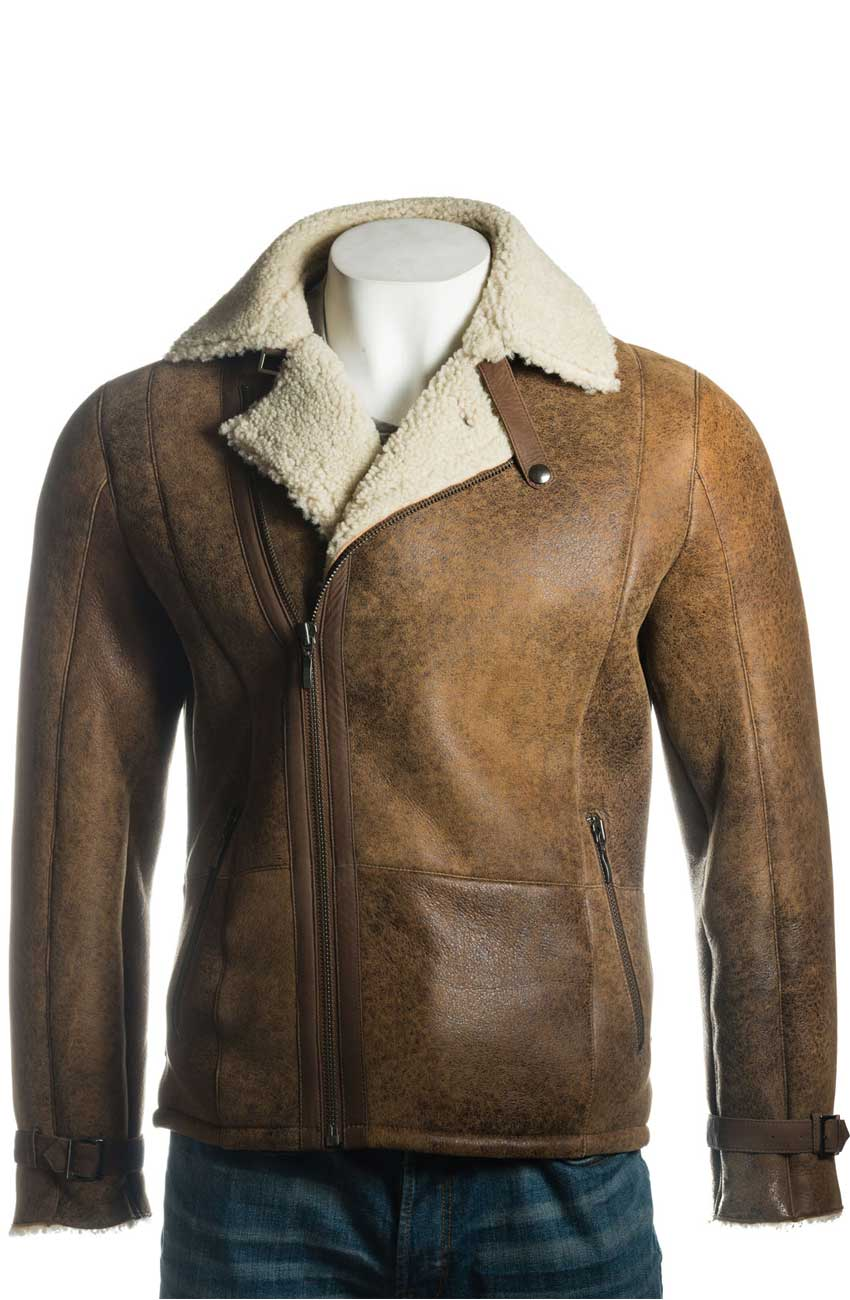 b7733bc27 Men's Shearling Sheepskin Biker Jacket on Movies Jacket