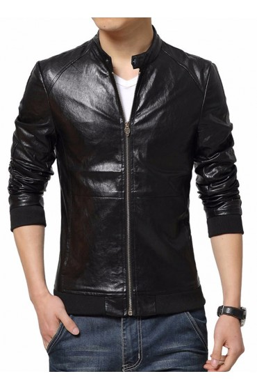 Slim Fit Mens Motorcycle Jacket