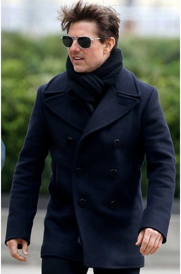 Mission Impossible 6 Tom Cruise Navy Blue Coat