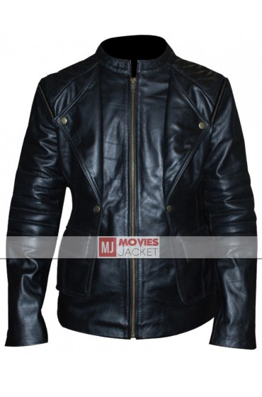 Lily Collins Mortal Instruments Clary Fray Leather Jacket