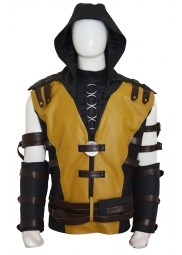 Mortal Kombat X Scorpion Vest with Hoodie