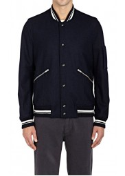 Men's Casual Wear Navy Blue Varsity Jacket
