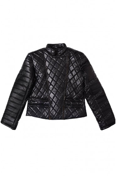 Nicki Minaj Quilted Black Jacket