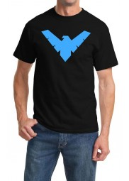 Men's Nightwing Logo Black T-Shirt