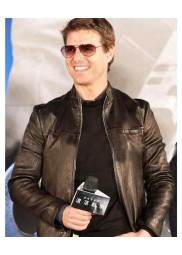 Oblivion Movie Premiere Tom Cruise Leather Jacket