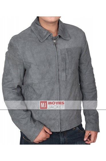 Oblivion Tom Cruise Grey Suede Leather Jacket