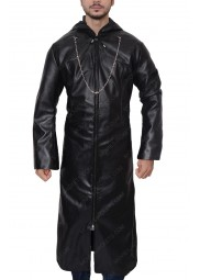 Organization XIII Kingdom Hearts Black Leather Coat